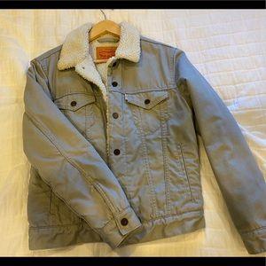 LEVIS Grey Sherpa Lined Jacket!